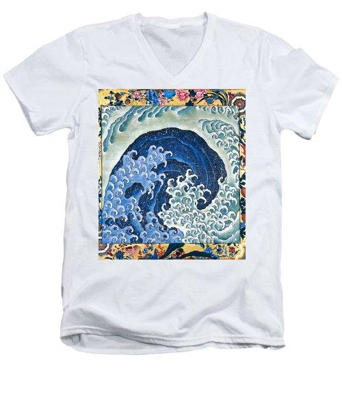 Femenine Wave Men's V-Neck T-Shirt by Roberto Prusso