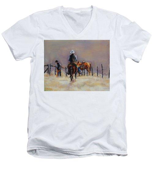 Fenceline Men's V-Neck T-Shirt