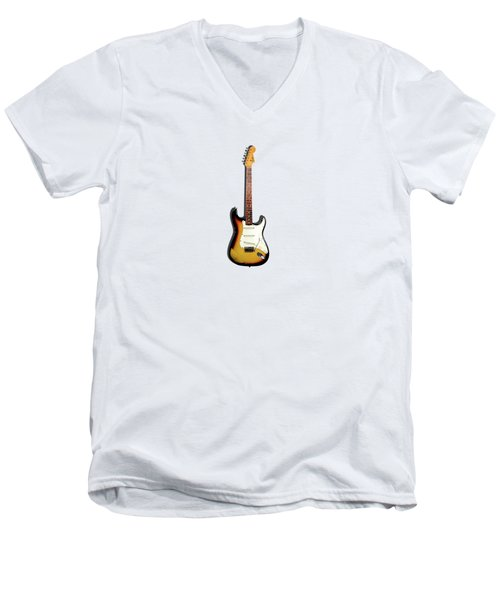 Fender Stratocaster 65 Men's V-Neck T-Shirt by Mark Rogan