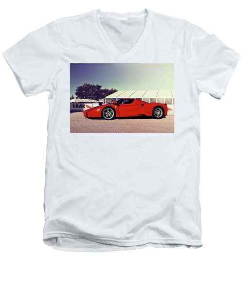 Men's V-Neck T-Shirt featuring the photograph Ferrari Enzo by Joel Witmeyer