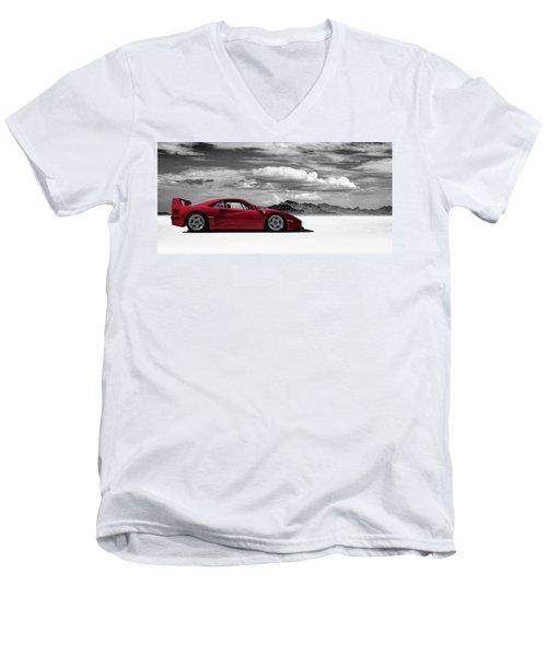 Ferrari F40 Men's V-Neck T-Shirt