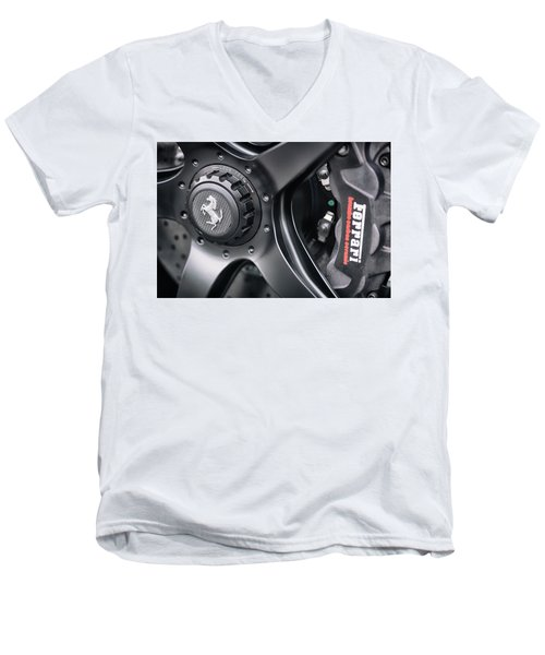 #ferrari #print Men's V-Neck T-Shirt