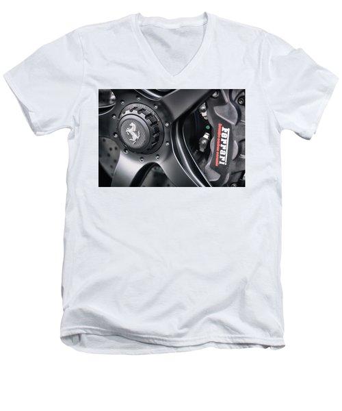 #ferrari #print Men's V-Neck T-Shirt