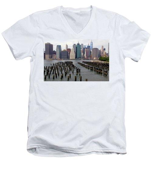 Ferry Hopping New York Men's V-Neck T-Shirt