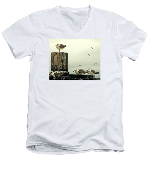 Ferry Hypnosis Men's V-Neck T-Shirt by Joe Jake Pratt