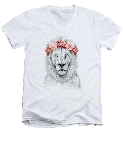Festival Lion Men's V-Neck T-Shirt