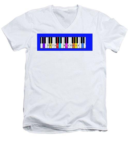 Fetal Records Logo Men's V-Neck T-Shirt
