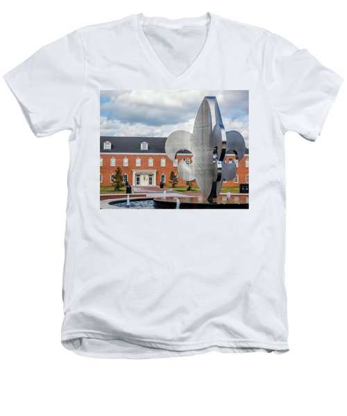 Men's V-Neck T-Shirt featuring the photograph Fg Mouton Hall 02 by Gregory Daley  PPSA