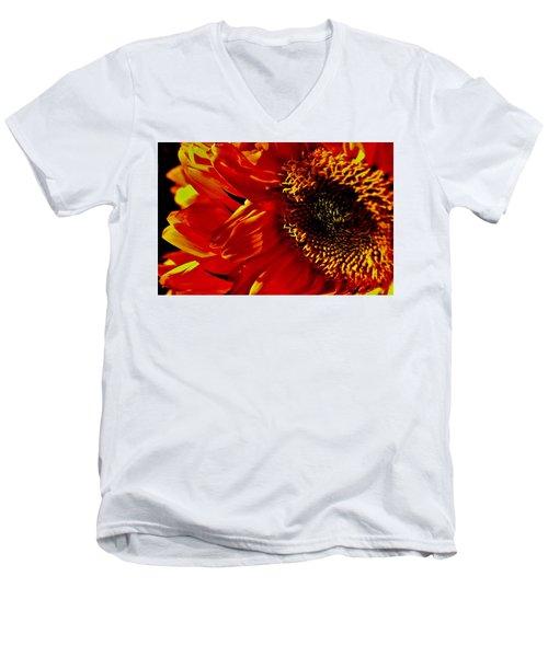 Fickle Sunflower Men's V-Neck T-Shirt