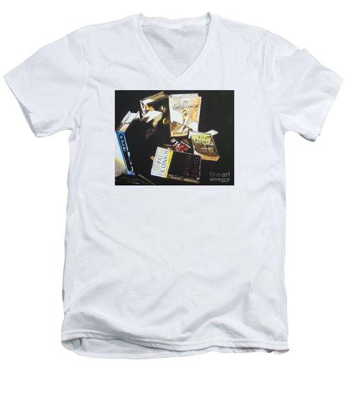 Fictitious Realism Men's V-Neck T-Shirt by Stuart Engel