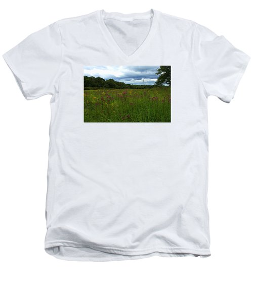 Men's V-Neck T-Shirt featuring the photograph Field Of Color by Bruce Carpenter