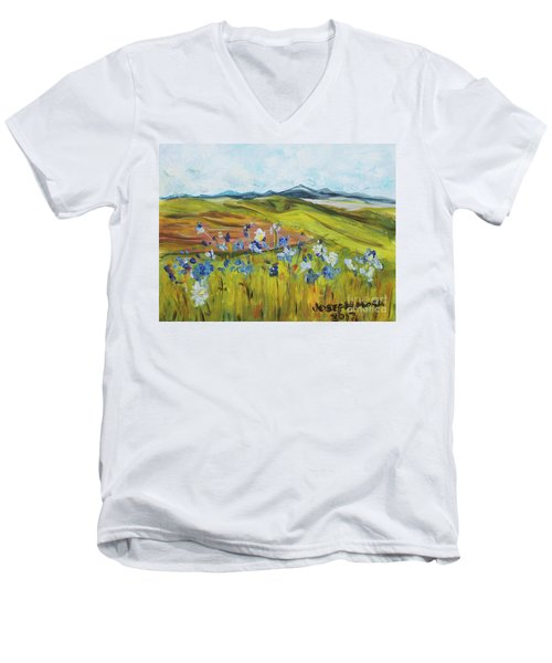 Field With Flowers Men's V-Neck T-Shirt