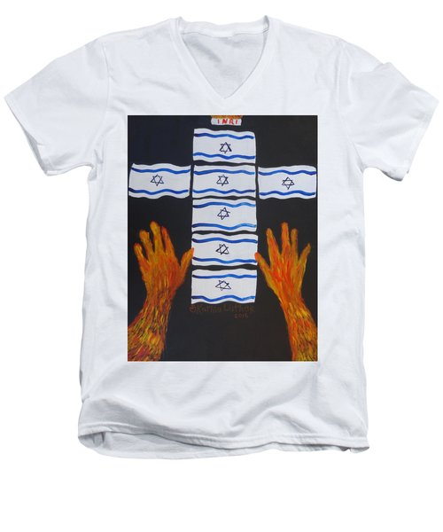 Fiery Intercession For Israel Men's V-Neck T-Shirt