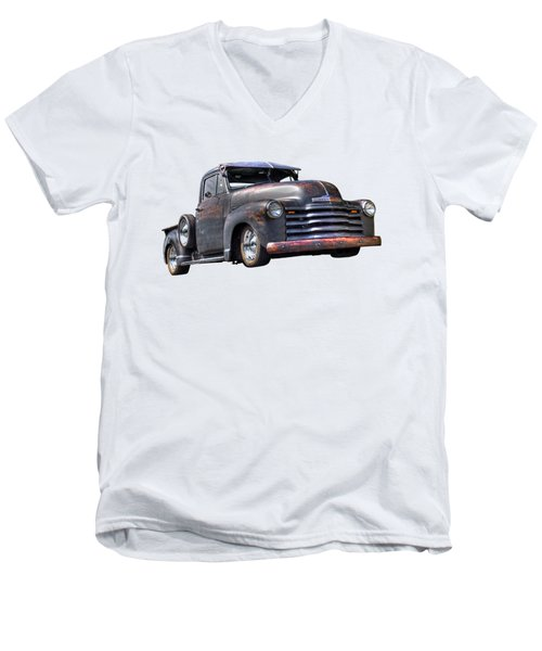 Fifties Rust - 1951 Chevy Men's V-Neck T-Shirt