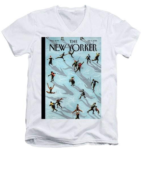 Figured Skaters Men's V-Neck T-Shirt
