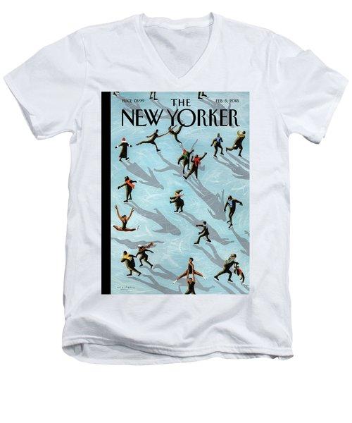 Figured Skaters Men's V-Neck T-Shirt