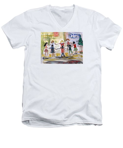 Finding Time To Play Men's V-Neck T-Shirt by Mary Carol Williams