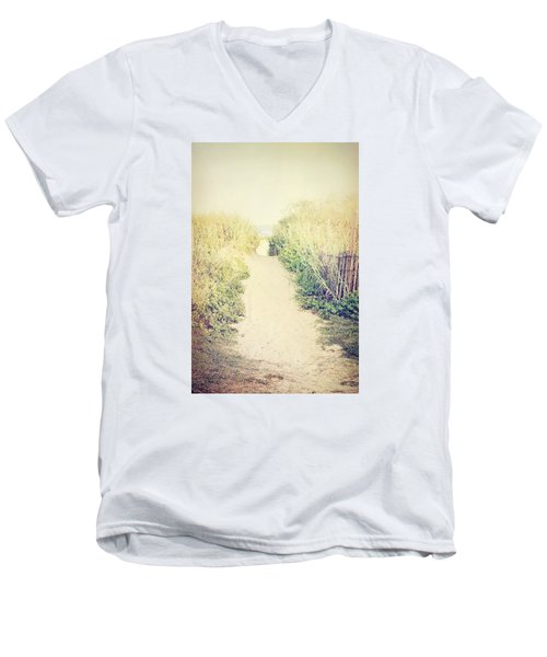 Men's V-Neck T-Shirt featuring the photograph Finding Your Way by Trish Mistric
