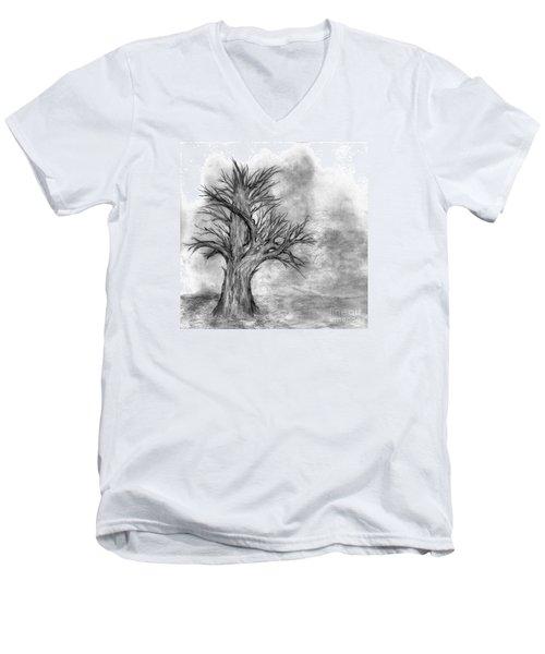 Finis Men's V-Neck T-Shirt by John Krakora
