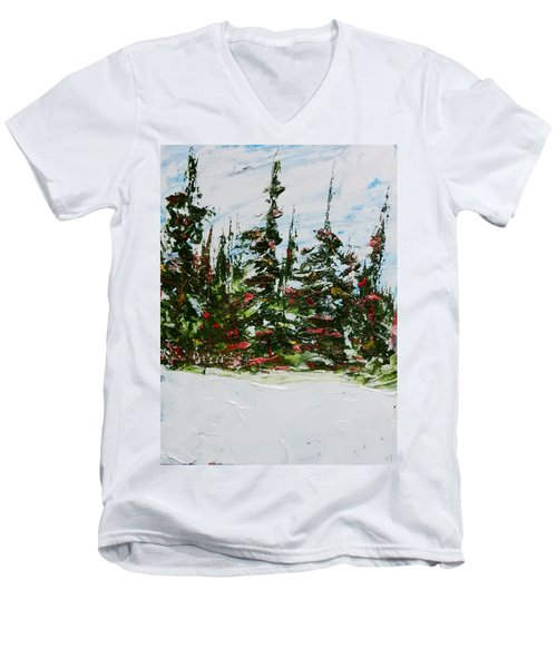 Fir Trees - Spring Thaw Men's V-Neck T-Shirt