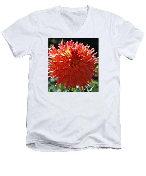 Fire It Up Dahlia  Men's V-Neck T-Shirt