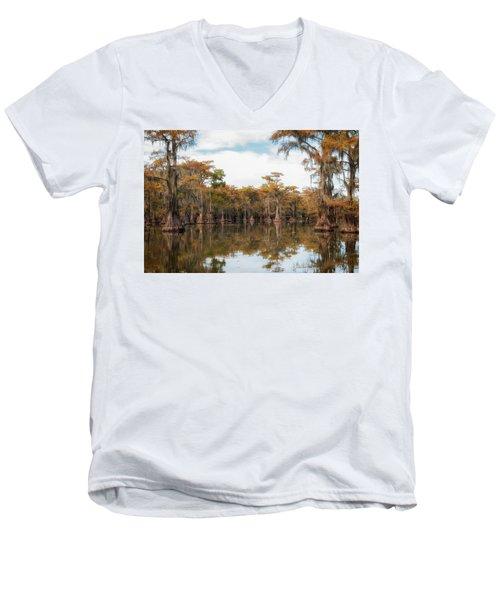 Fire Moss  Men's V-Neck T-Shirt