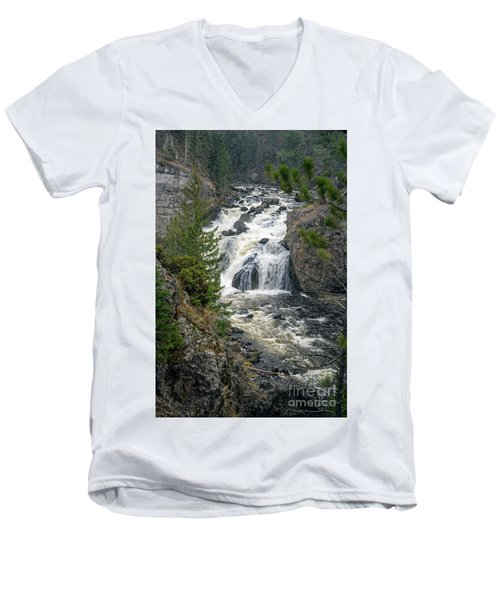 Firehole Falls Men's V-Neck T-Shirt