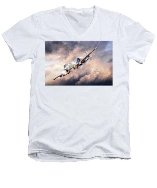Firestorm Men's V-Neck T-Shirt by Peter Chilelli