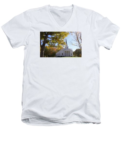 First Congregational Canterbury Men's V-Neck T-Shirt