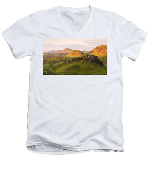First Light On The Quairing  Men's V-Neck T-Shirt
