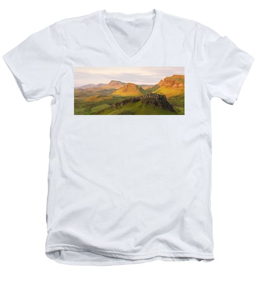 First Light Trotternish Panorama Men's V-Neck T-Shirt