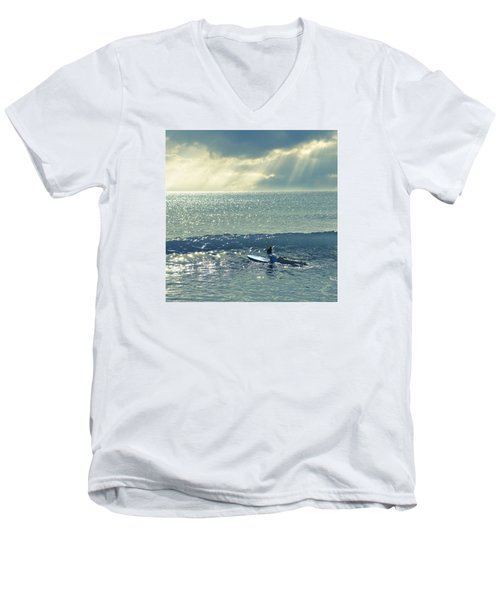 First Of The Day Men's V-Neck T-Shirt