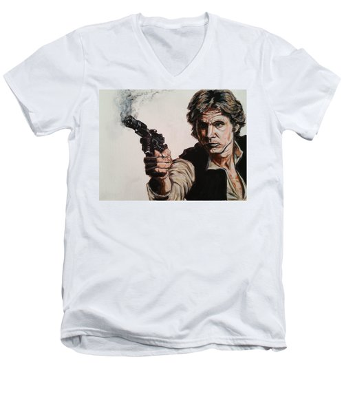 First Shot - Han Solo Men's V-Neck T-Shirt
