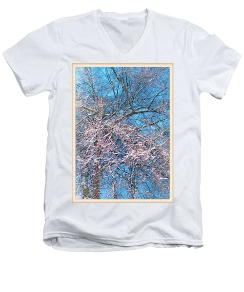 First Snow At Dawn Men's V-Neck T-Shirt