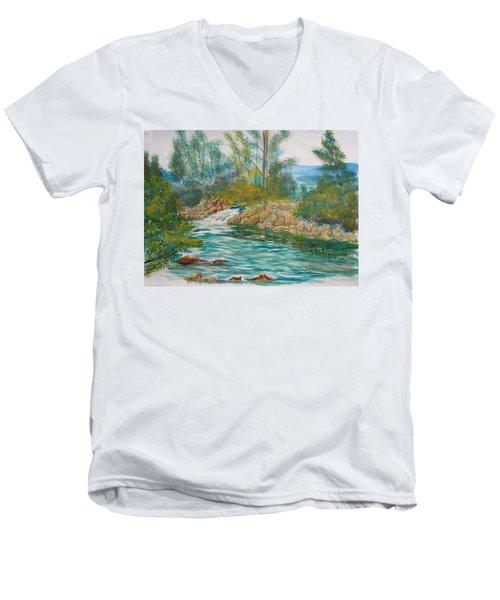 First Watercolour Men's V-Neck T-Shirt