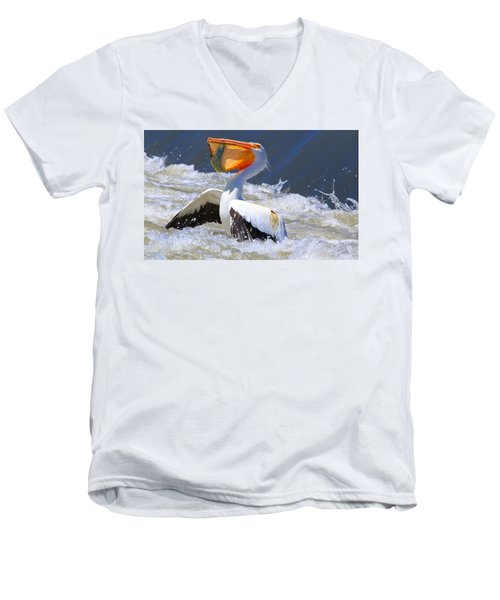 Fish For Dinner Men's V-Neck T-Shirt