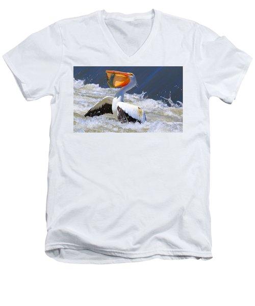 Fish For Dinner Men's V-Neck T-Shirt