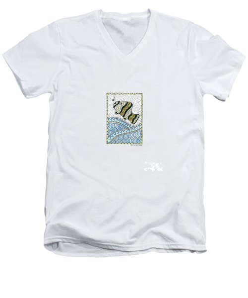Fish In The Sea Men's V-Neck T-Shirt by Billinda Brandli DeVillez