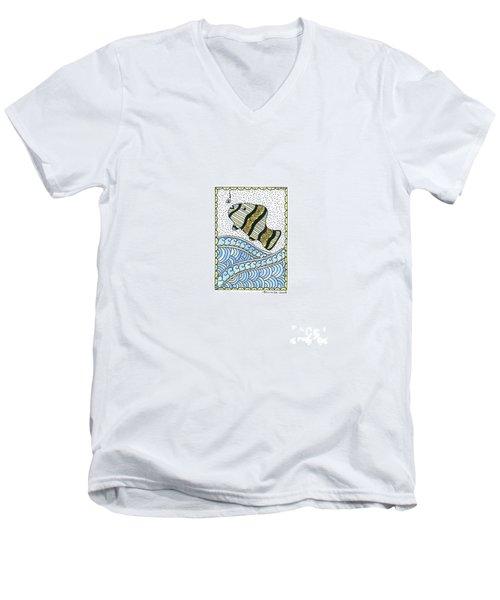 Fish In The Sea Men's V-Neck T-Shirt