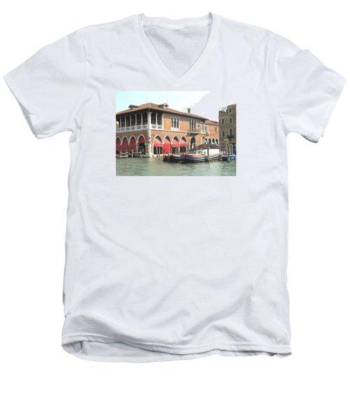 Fish Market Venise Men's V-Neck T-Shirt by Lisa Boyd