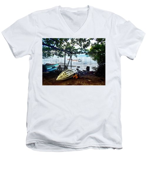 Fisherman's Cove In Moorea Men's V-Neck T-Shirt