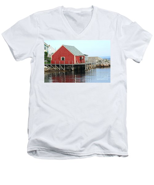 Fishermans House On Peggys Cove Men's V-Neck T-Shirt