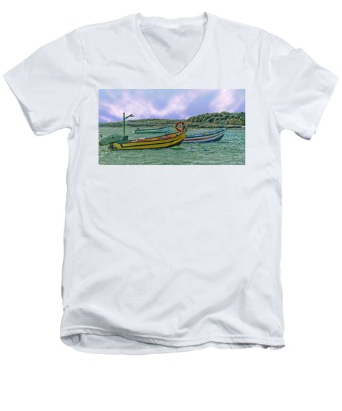 Fishermen's Wharf Men's V-Neck T-Shirt