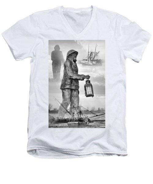 Fishermen - Jersey Shore Men's V-Neck T-Shirt