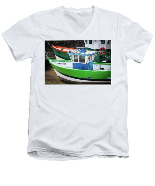 Fishing Boats Men's V-Neck T-Shirt