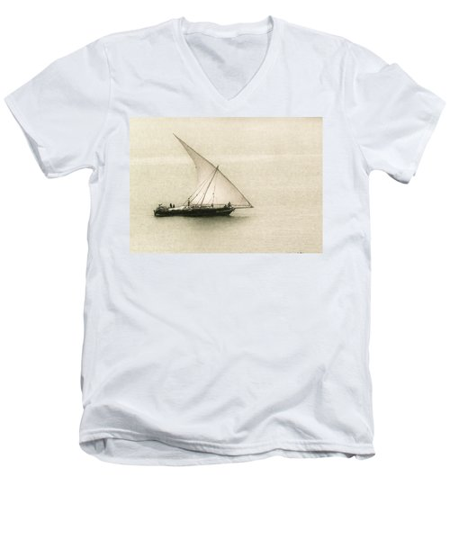 Fishing Dhow Men's V-Neck T-Shirt by Patrick Kain