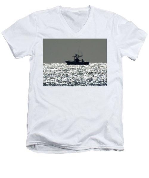 Fishing In Sanibel Men's V-Neck T-Shirt