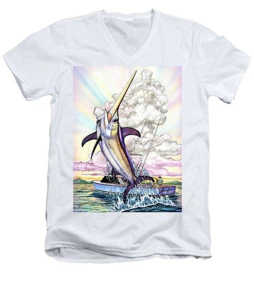 Fishing Swordfish Men's V-Neck T-Shirt