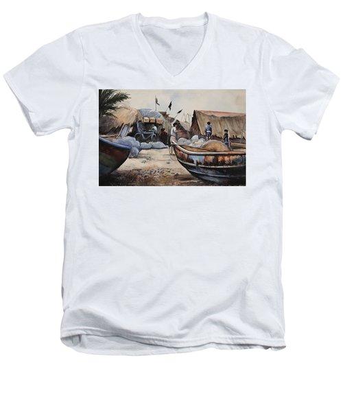 Fishing Village Of Puri Men's V-Neck T-Shirt