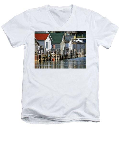 Fishtown In Leland Men's V-Neck T-Shirt